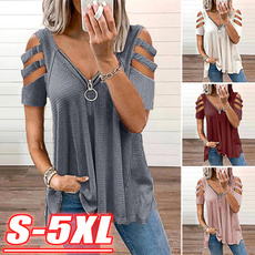 blouse, Fashion, Summer, V-neck