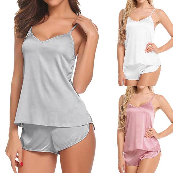 silky, nightwear, Shorts, Sleepwear Lingerie