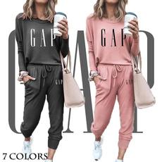 Women, Fashion, Sleeve, hoodiepantssuit