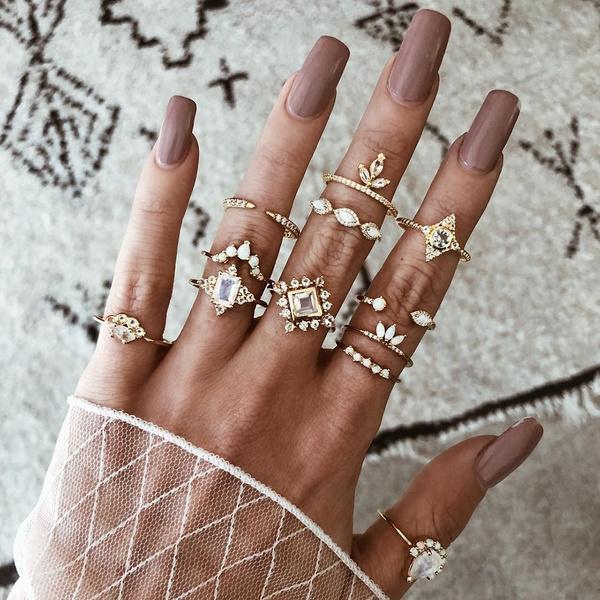 18k gold, wedding ring, Gifts, ringset