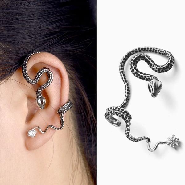 goldplated, 925 sterling silver, punk earring, vintage earrings