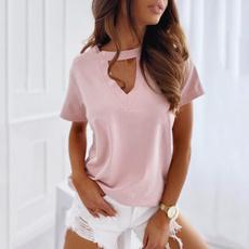 Fashion, Sleeve, Tops, Loose