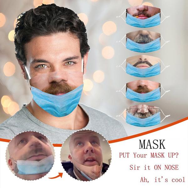 Funny, Cotton, prankmask, Cosplay