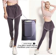 sportsshortswomen, Yoga, skinny pants, Elastic