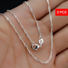 Sterling, Chain Necklace, Engagement, 925 sterling silver