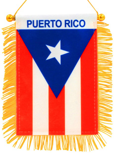 Mini, fringed, puertoricoflag, Cup