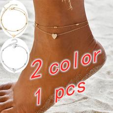 Heart, sandybeach, Fashion, Anklets