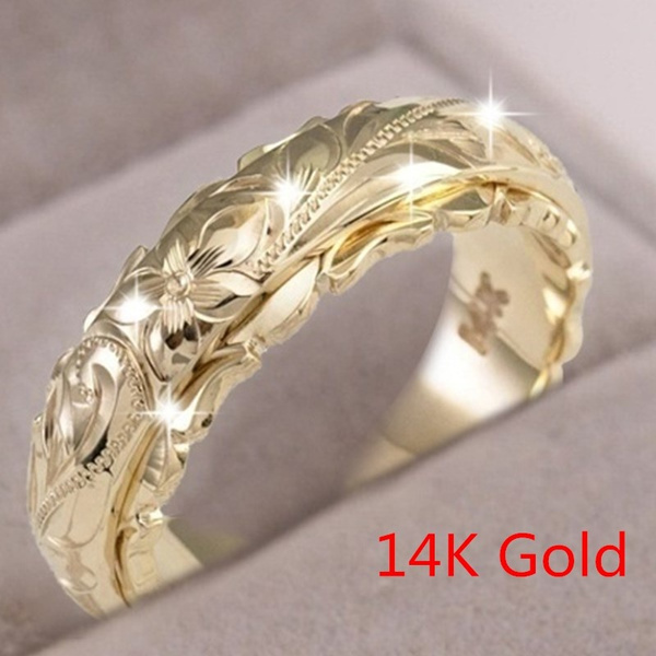 fashionjewelryring, Flowers, wedding ring, gold