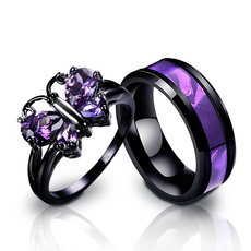 Steel, butterfly, wedding ring, Gifts