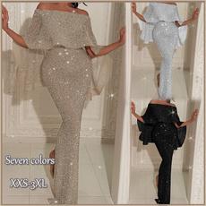 party, Plus Size, one shoulder dress, long dress