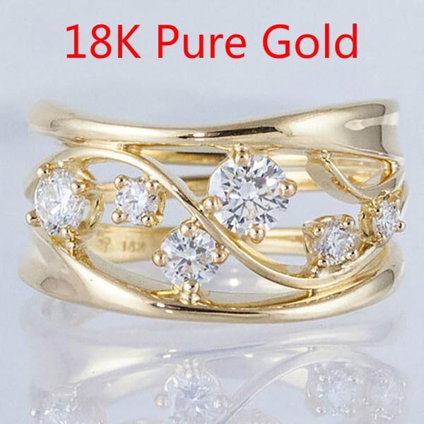 DIAMOND, hollowdiamondring, wedding ring, gold