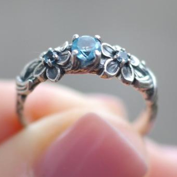 Blues, Flowers, Jewelry, Garland