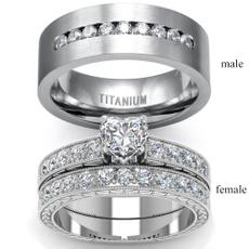 Fashion, wedding ring, Engagement Ring, titanium