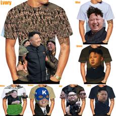 Mens T Shirt, Fashion, Summer, kimjongun
