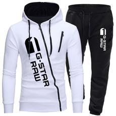 Fashion, men's cotton T-shirt, pants, sports hoodies