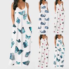 Sleeveless dress, Fashion, Summer, long dress
