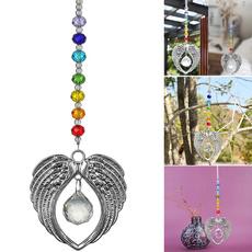 rainbow, crystalangelpendant, Garden, Angel