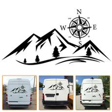 Mountain, rv, baum, Stickers