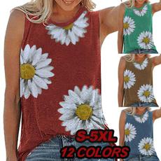 daisyprint, Vest, slim, Shirt