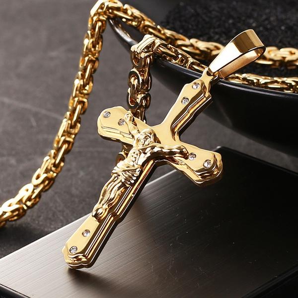 Jewelry, Cross Pendant, Cross, Chain