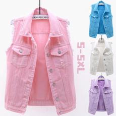 Summer, Vest, Fashion, Denim
