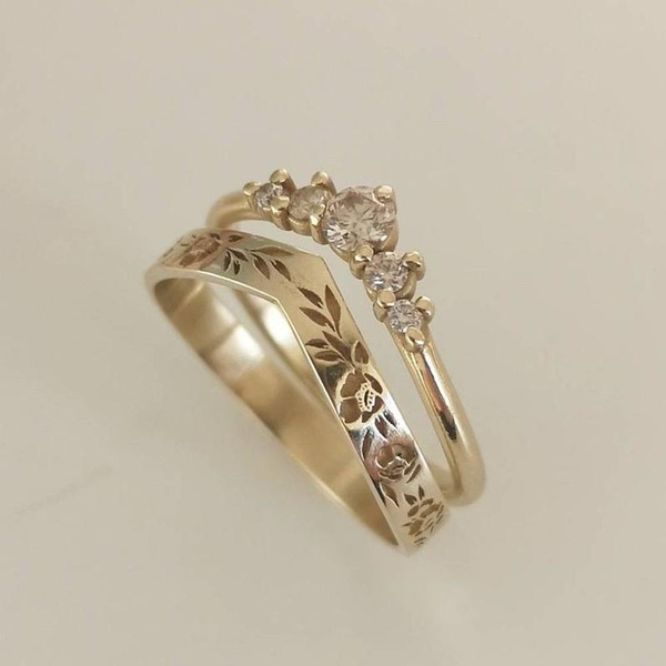Engagement Wedding Ring Set, Jewelry, Gifts, gold