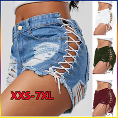 womens jeans, Tassels, tasselsshort, Waist