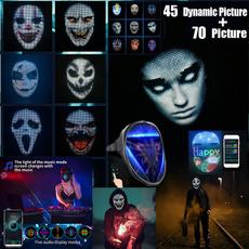 masksforhalloween, glowingmask, led, Mobile