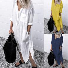 Summer, Fashion, sleeve dress, Shirt