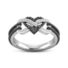 Sterling, Heart, DIAMOND, gold