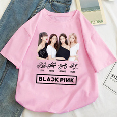 K-Pop, Summer, shortsleevestshirt, Cotton T Shirt