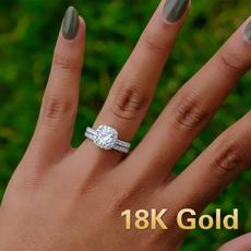 roundcut, White Gold, Engagement, Jewelry