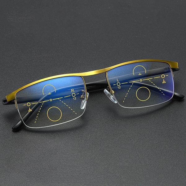 Blues, progressiveglasse, bifocalreadingglasse, presbyopicglasse