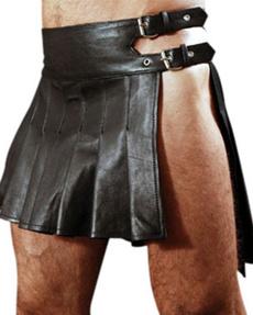 ruffle, mens skirt, PU, leather