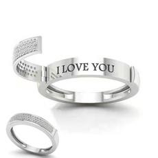 Sterling, Silver Jewelry, DIAMOND, Love