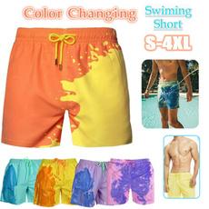 menswimtrunk, mensbeachswimshort, colorchangingswimpant, pants