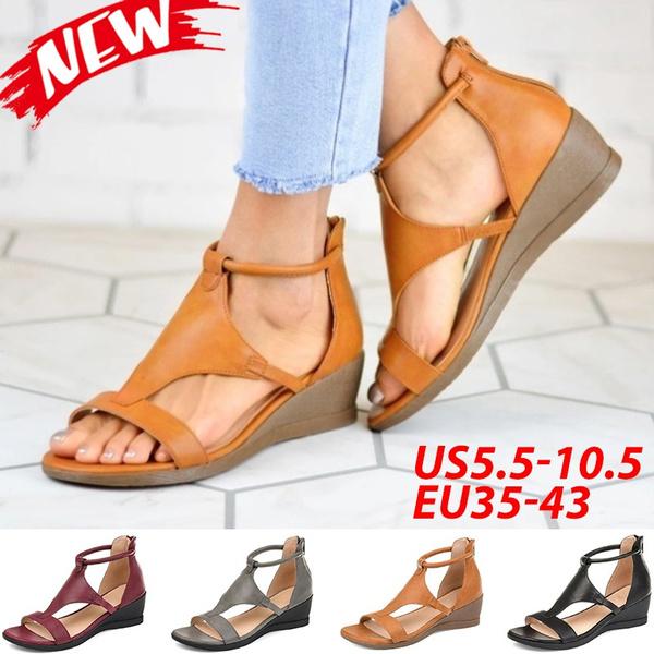 Summer, Sandals, leathersandalsforwomen, wedge
