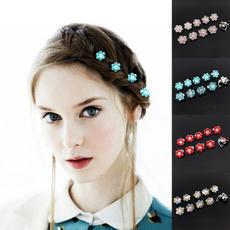 girlshairstyle, Flowers, hairornament, metalhairclaw