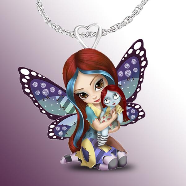 Sterling, butterflyprincessnecklace, Fashion, ghostnecklace