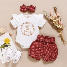 bowknot, Baby Girl, Shorts, Floral print