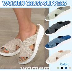 Summer, Plus Size, Platform Shoes, Flats