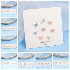 butterfly, Jewelry Set, Stud, butterfly earrings