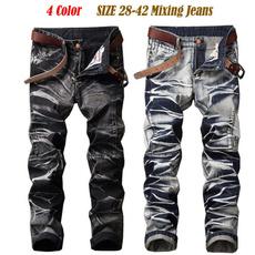 Hip-hop Style, men jeans, motorcyclejean, skinny pants