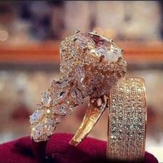 Beautiful, Antique, Engagement Wedding Ring Set, art