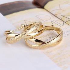 goldplated, Hoop Earring, Dangle Earring, Jewelry