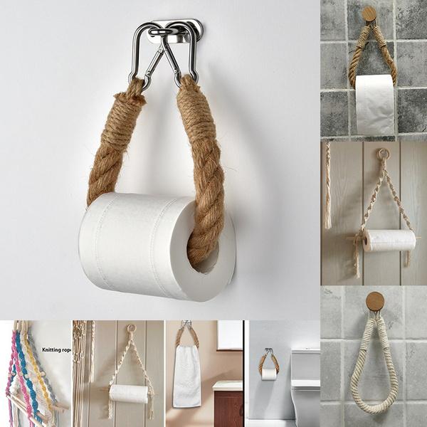 toiletpaperholder, Rope, Bathroom, Towels
