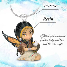Sterling, angelnecklace, Fashion, Jewelry