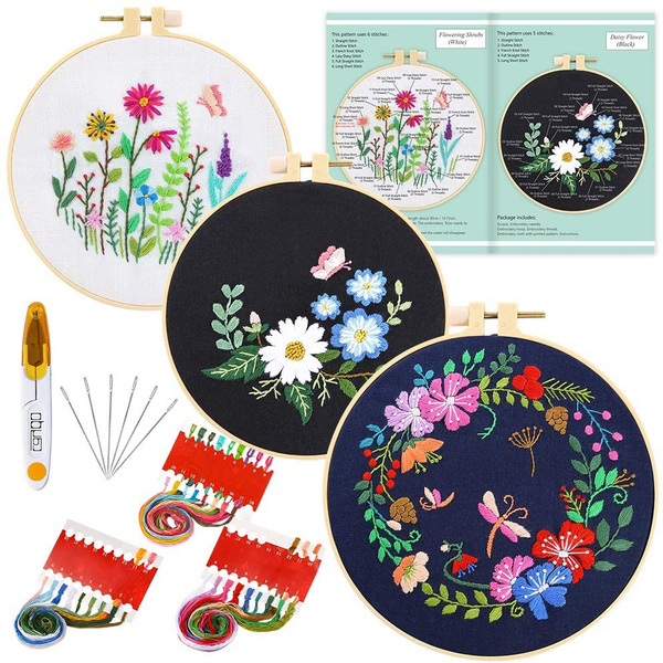 Flowers, embroiderythread, embroiderykit, Bouquet