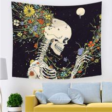 living, Flowers, Colorful, skull