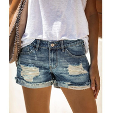 Blues, Summer, ripped, Plus Size